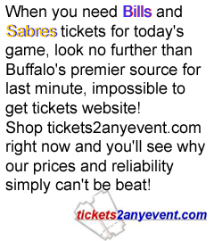 If your visiting the Erie Basin Marina, and you're looking for something to do in Buffalo shop www.tickets2anyevent.com for all your Buffalo Sabres, Buffalo Bills, HSBC Arena Concerts, Shea's Buffalo, Seneca Casinoticketing needs.  Tickets2anyevent.com specializes in last minute and sold out ticket needs.